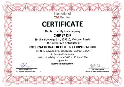 ЧИП и ДИП – авторизованный дистрибьютор International Rectifier