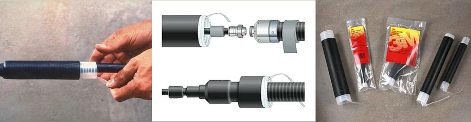 Изолирующие соединительные трубки холодной усадки производства 3M