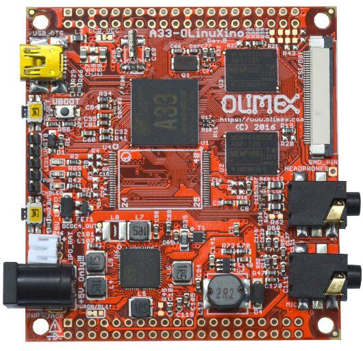 Одноплатный компьютер A33-OLinuXino-n8GB