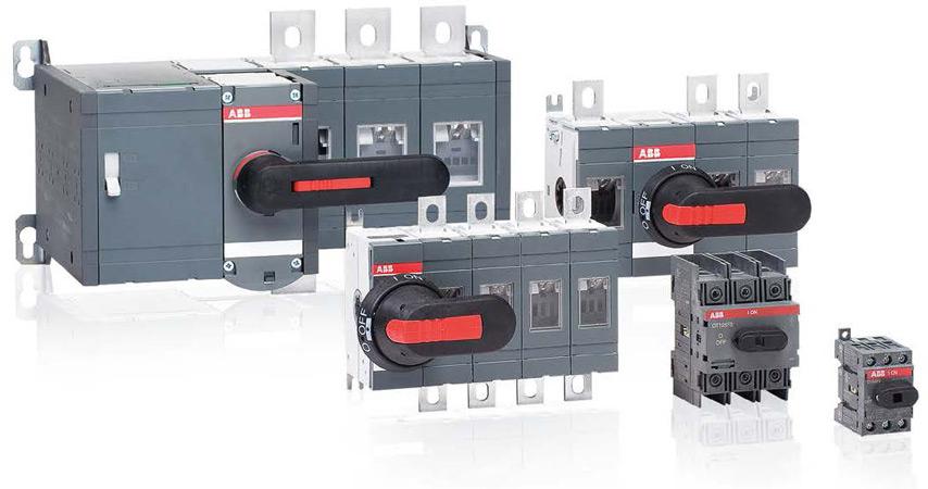 Реверсивные выключатели нагрузки с ручным управлением серии ОТ от ABB