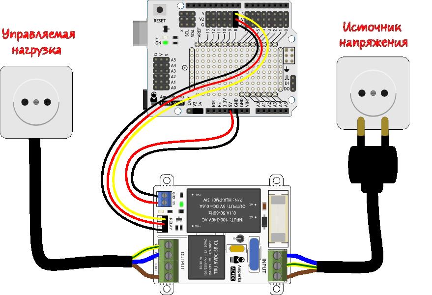 Zelo-AC/DC Схема подключения