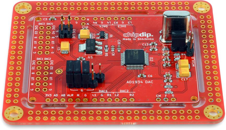 AD1934 DAC – 8 аудио ЦАП. Разрешение 24бита, частота дискретизации 192kHz. SigmaStudio. Новинки собственного производства