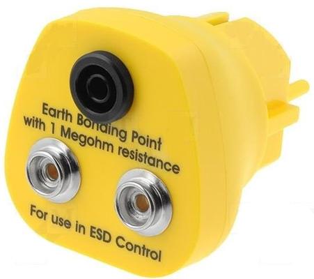 Адаптер CPG3000-10M-4B для заземления антистатического оборудования через евророзетку