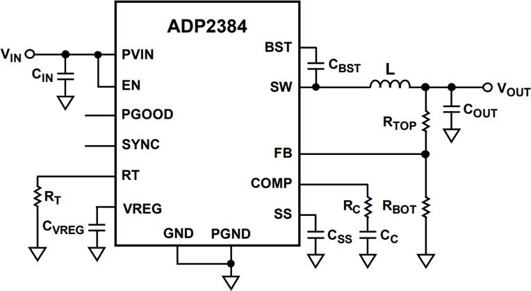 Типовая схема применения ADP2384