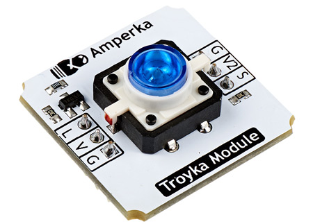 Troyka-Led Button Blue