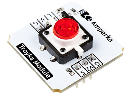 Troyka-Led Button Red