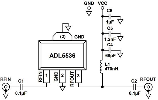 Типовая схема применения ADL5536ARKZ