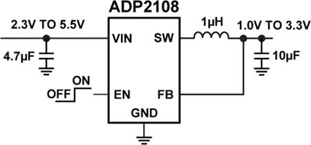 Типовая схема применения ADP2108