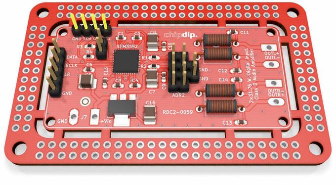 RDC2-0059 - модуль усилителя с цифровыми входами I2S и TDM на основе SSM3582BCPZ