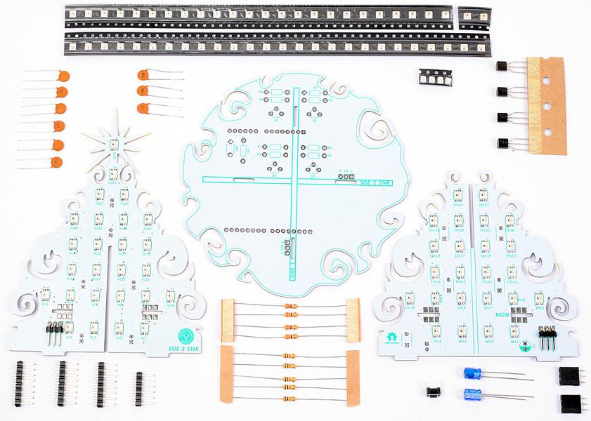 Новогодняя Arduino Ёлка 2020. Программируемый конструктор.