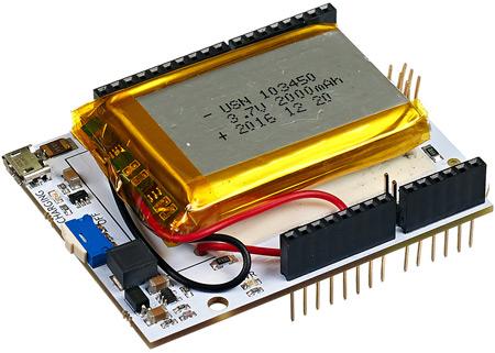 Arduino Power Shield Li-Ion - аккумулятор для Arduino проектов