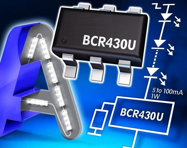 Линейный драйвер светодиодов с низким падением напряжения BCR430U