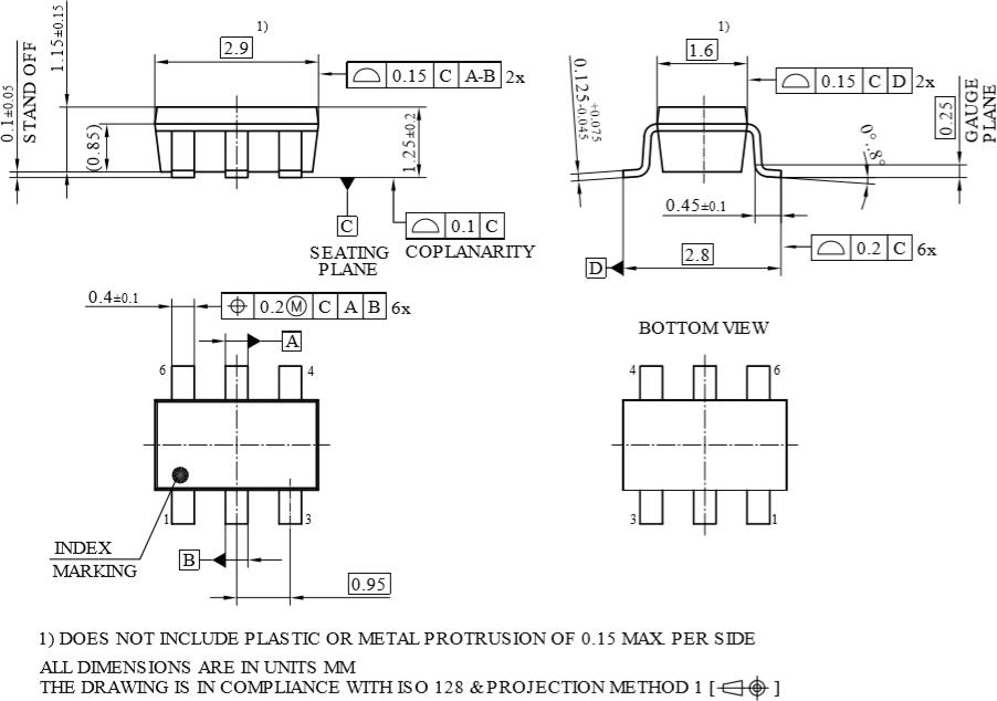 Габаритные размеры BCR430U