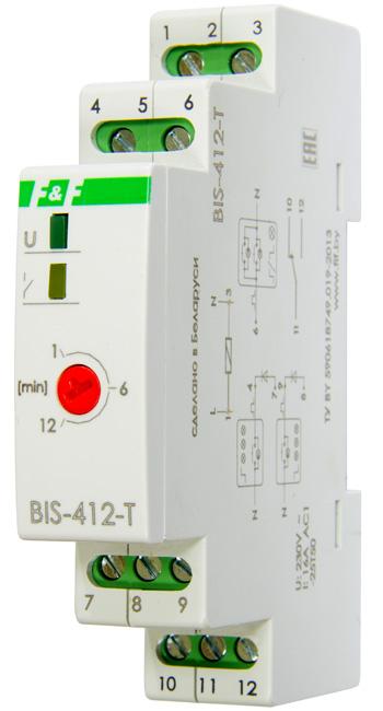 Импульсное реле BIS-412-Т для группового режима работы с задержкой отключения