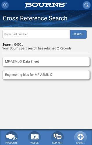 Мобильное приложение BOURNS для iPhone и Android
