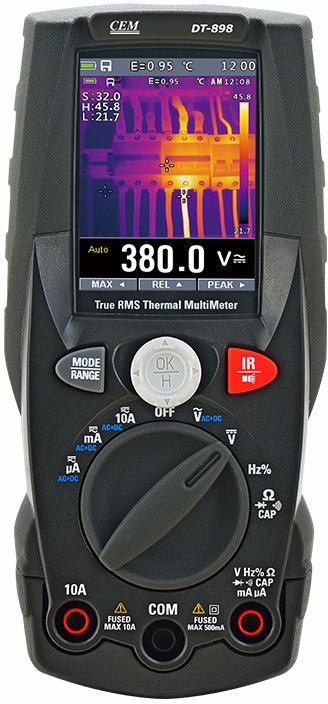 CEM DT-898 мультиметр TRMS с встроенным тепловизором