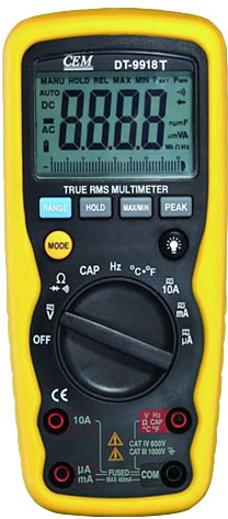Профессиональный цифровой мультиметр CEM DT-9918T
