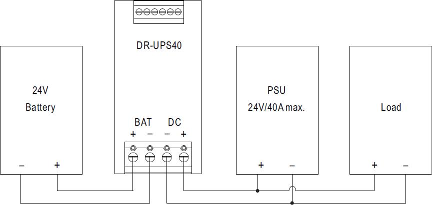 Рис.2 Схема подключения DR-UPS40