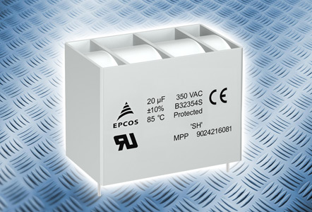Надёжные пленочные конденсаторы B32354S3 марки EPCOS для фильтров переменного тока