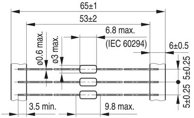 Выводные индуктивности B82141A от компании Epcos. Габаритные размеры