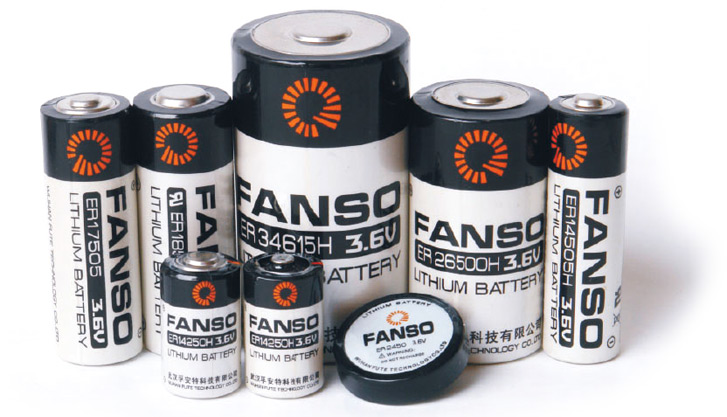 Литиевые элементы питания Fanso