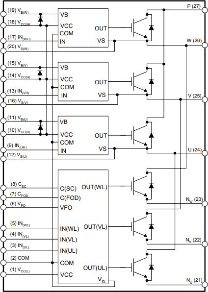 Функциональная схема FSBB30CH60C
