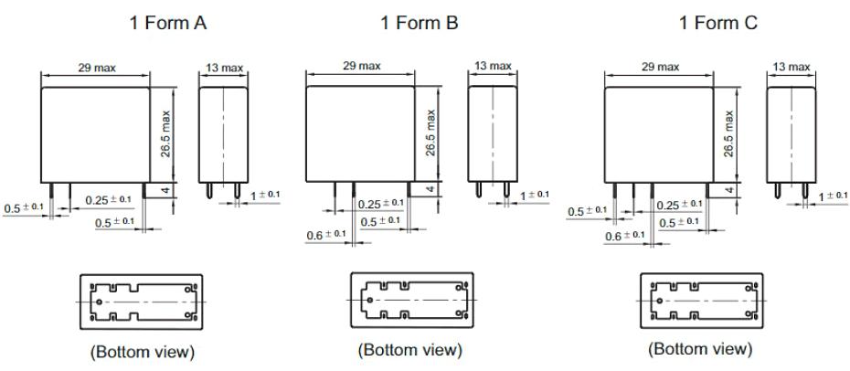 HF14FW Габаритные размеры
