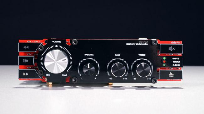 Hi-Fi-Pi №2 DAC 2.1, Hi-Res аудио процессор для RaspberryPI ссабвуферными каналами