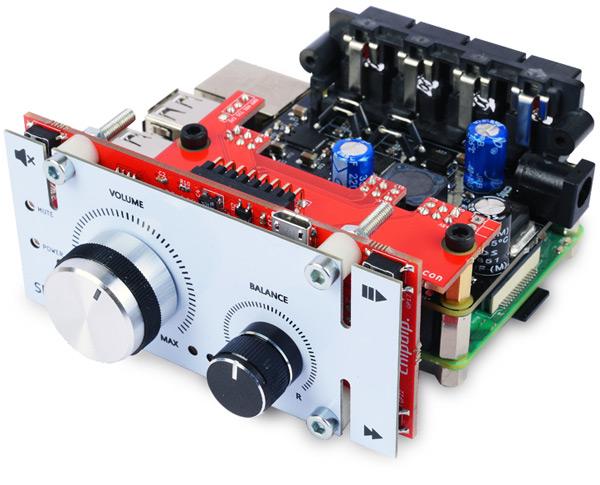 HiFi-Pi №3, Цифровой аудио усилитель для RaspberryPI, 2х60Вт. SSM3582x2