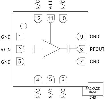 Функциональная схема HMC441LC3B