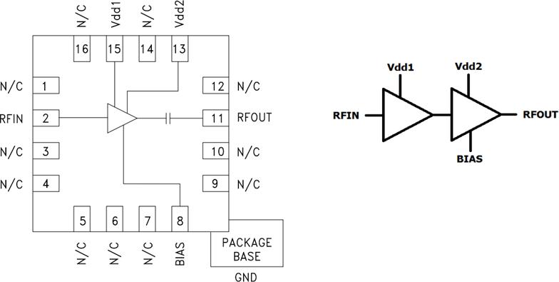 Функциональная схема HMC717ALP3E