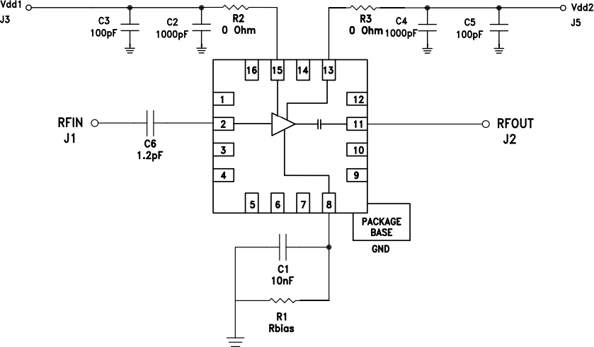 Типовая схема применения HMC717ALP3E