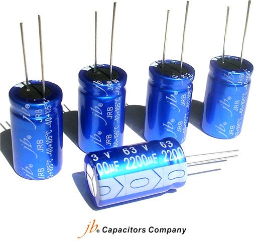 Электролитические конденсаторы серии JRB отJBCapacitors