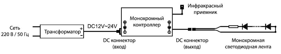 LSC 003 12V. Схема подключения