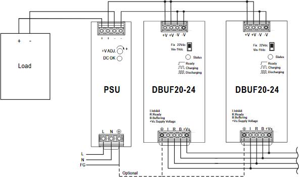Параллельное подключение DBUF20/40
