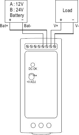Типовая схема подключения блока питания серий DRC
