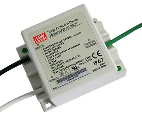 SPD-20-240P - модуль защиты для светодиодных блоков питания от MEAN WELL