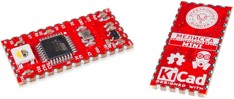 Мелисса Mini – компактный клон Arduino Mini