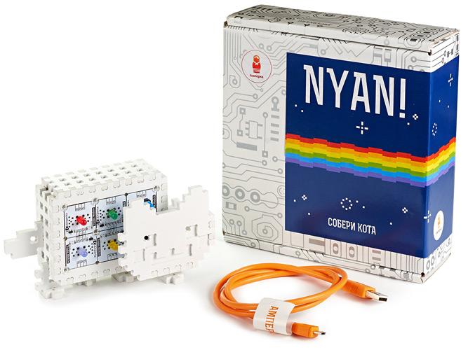 Набор деталей для сборки умного котика Nyan! на базе Iskra Neo
