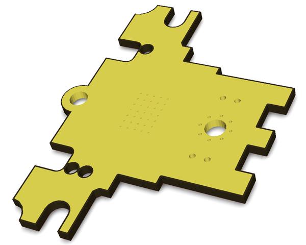 теплоотвод RDC1-0021, покрытый иммерсионным золотом