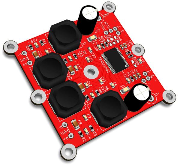 RDC2-0020 - универсальный усилитель D-класса, 2 x 50Вт или 1 x 100Вт на одной плате