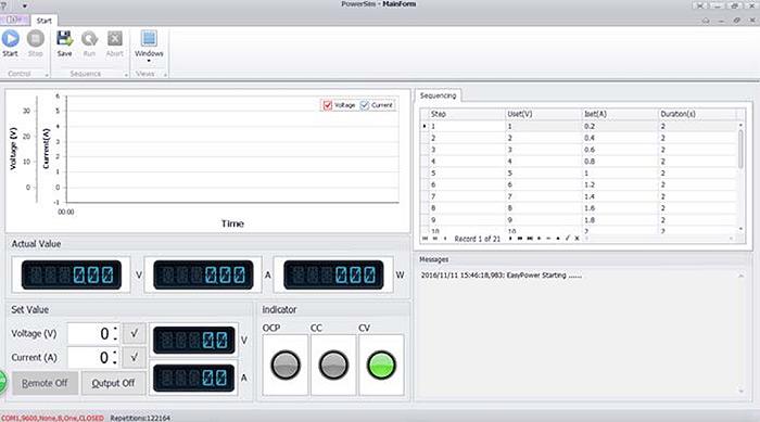 Программируемые источники питания QJE серии QJ30xxP: интуитивно понятное программное обеспечение