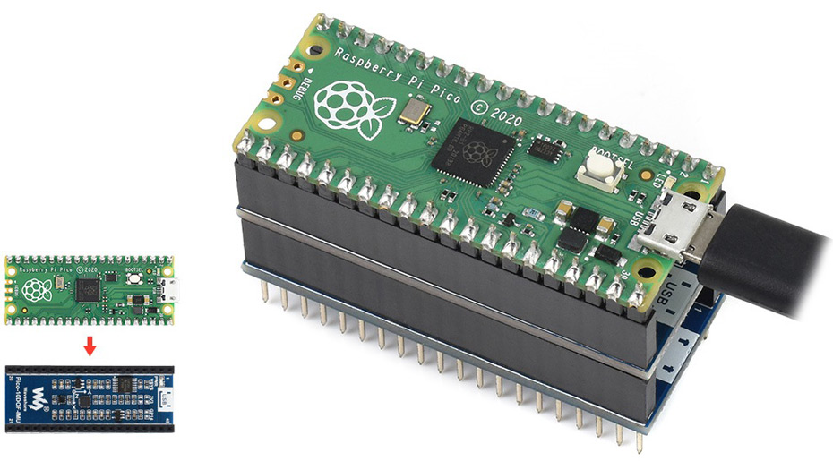 Инерциальный измерительный модуль дляRaspberryPiPico