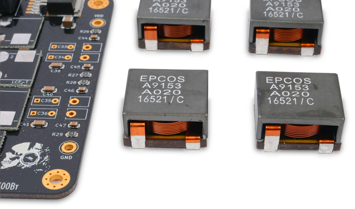 RDC2-0034 All-in-One Epcos: чип TPA3255, индуктивности Epcos