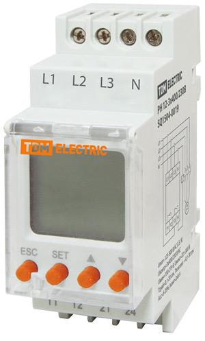 Трехфазное реле контроля напряжения РН12