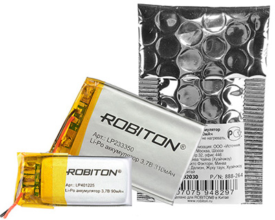 Литий-полимерные аккумуляторы Robiton
