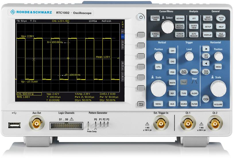 Цифровой осциллограф Rohde&Schwarz RTC1002MAX - эксклюзивно в ЧИПиДИП