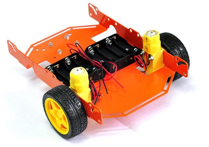 ШРЭК-3.1 трехколесное металлическое шасси для построения мобильных роботов