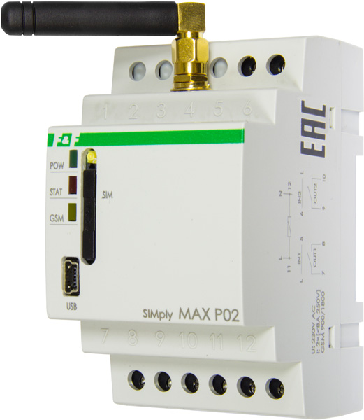 Реле дистанционного управления SIMply MAX P02