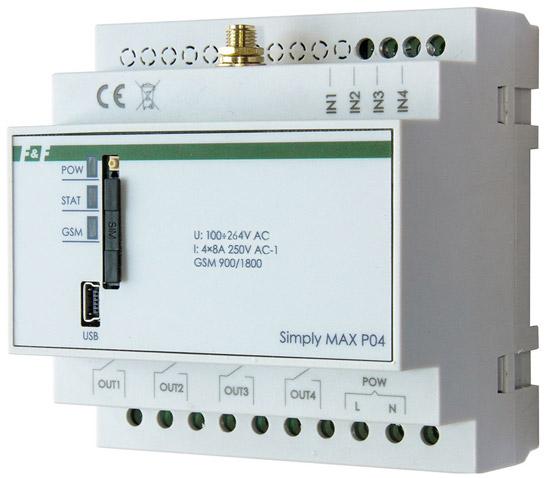 Реле дистанционного управления SIMply MAX P04